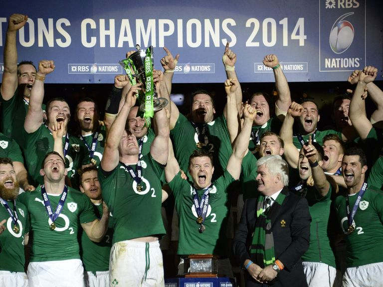 Ireland celebrate their Six Nations success