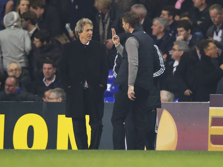 Tim Sherwood and Jorge Jesus clashed last week