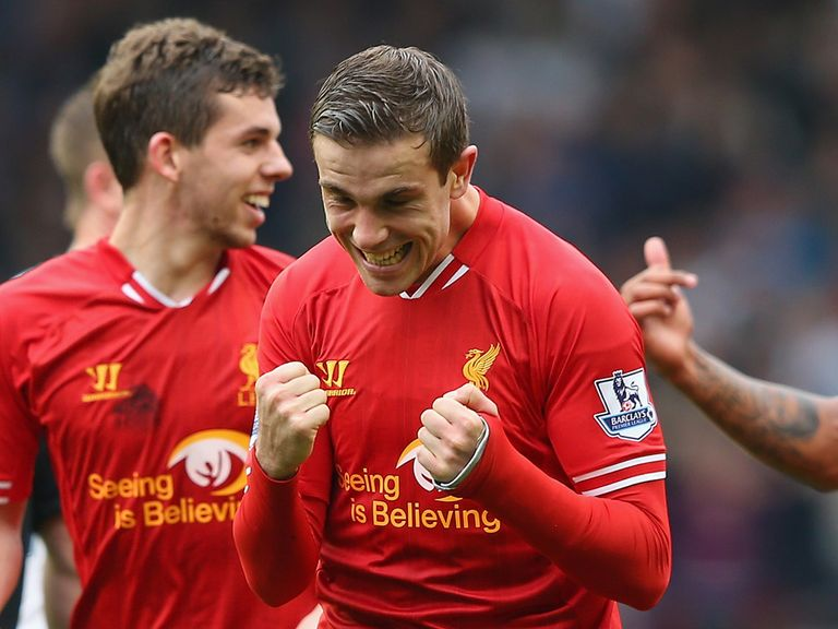 Jordan Henderson: Enjoying sitting top of the league