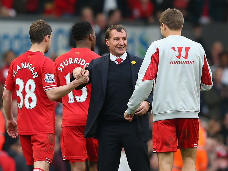 Brendan Rodgers was keen to play down Liverpool's title's hopes