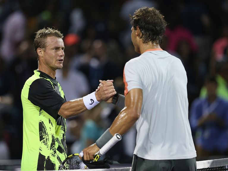 Lleyton Hewitt says well done to Rafael Nadal