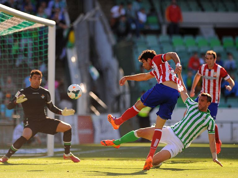 Diego Costa scores for Atletico Madrid