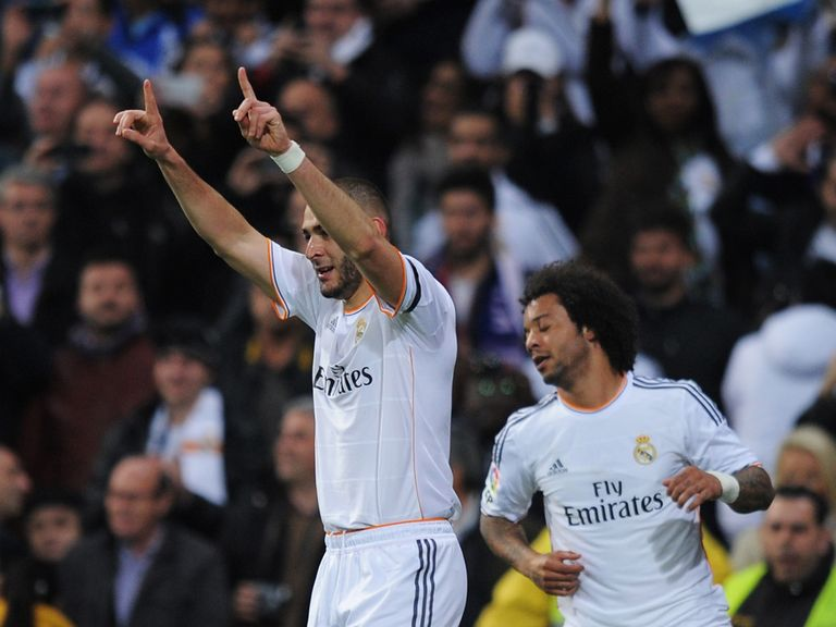 Karim Benzema: Found the net twice in Sunday's 3-2 defeat
