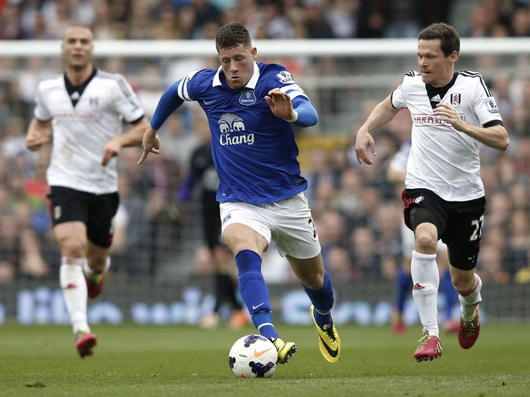 Ross Barkley (centre) in action for Everton against Fulham last weekend