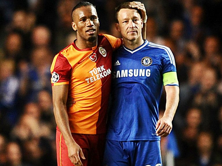 Drogba and John Terry after Chelsea won through