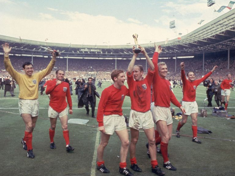 England celebrate World Cup victory in 1966