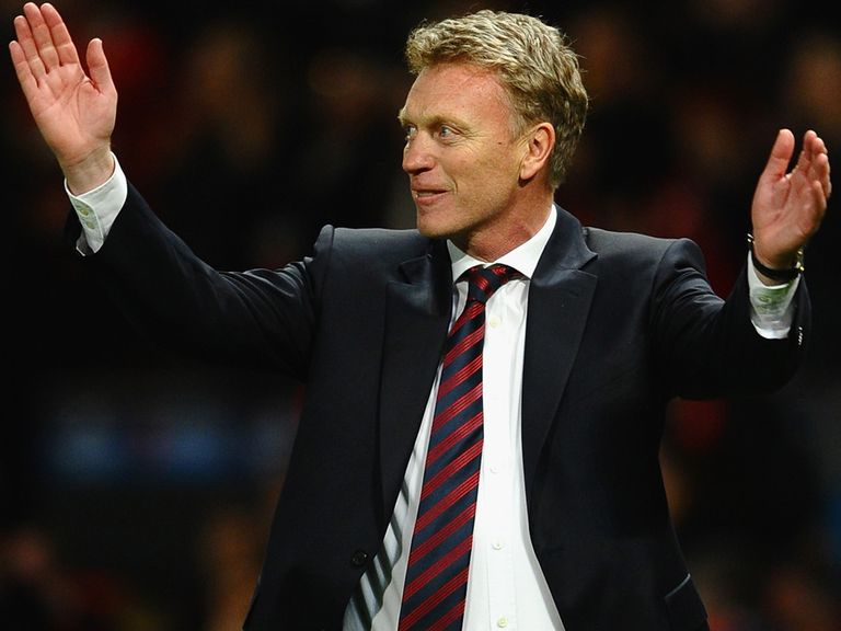 Manchester United boss David Moyes is feeling much happier