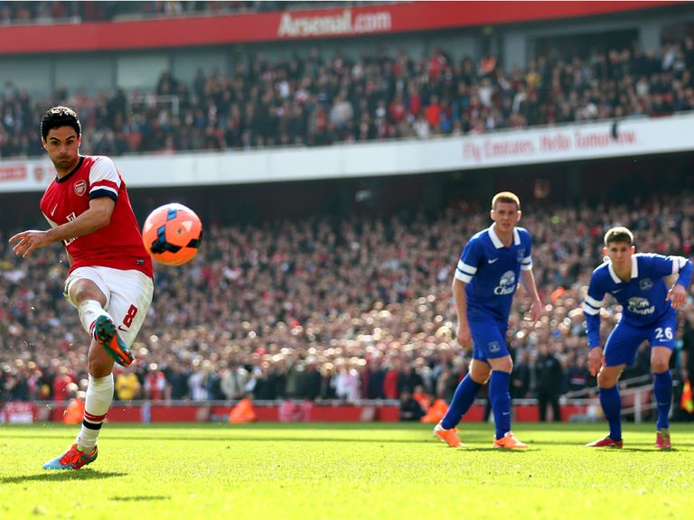 Arteta scores from the spot to put Arsenal 2-1 ahead