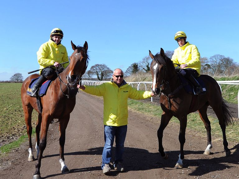 Richard with his two Lincoln runners, Hi There and Gabrial's Kaka