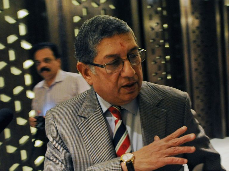 N Srinivasan: Has been forced to temporarily stand down