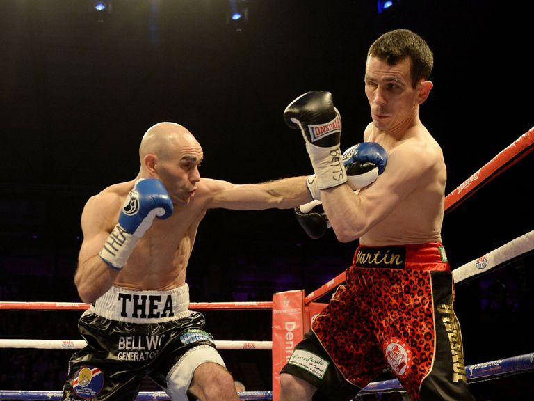 Stuart Hall (L): Reatined IBF bantamweight title after disappointing end to clash with Martin Ward