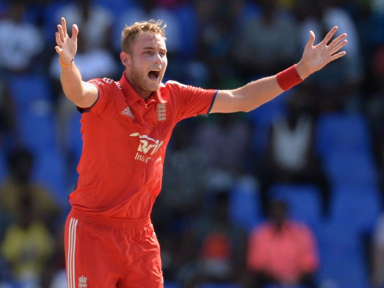 Stuart Broad: Has been troubled by a knee injury