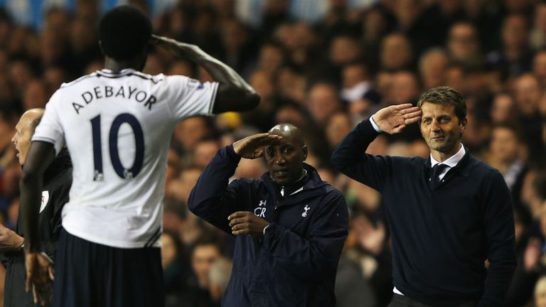 Emmanuel Adebayor: Revealed respect for boss Tim Sherwood