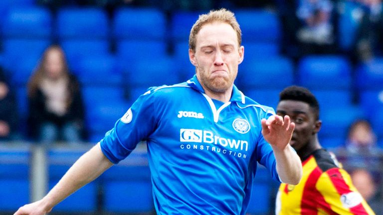 Steven Anderson: Back in training with St Johnstone