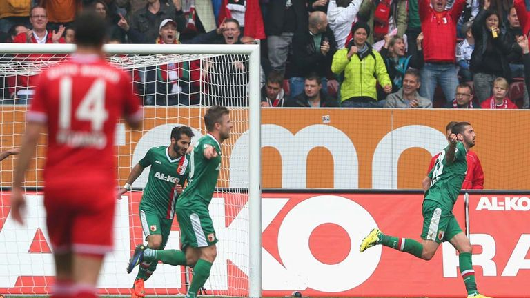 Sascha Molders: Celebrates the goal that finally sunk Bayern