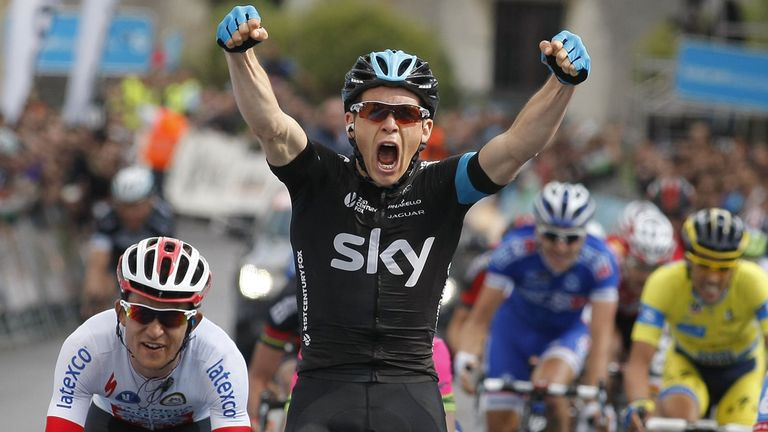 Ben Swift: Stayed in contention on climbs to claim stylish victory