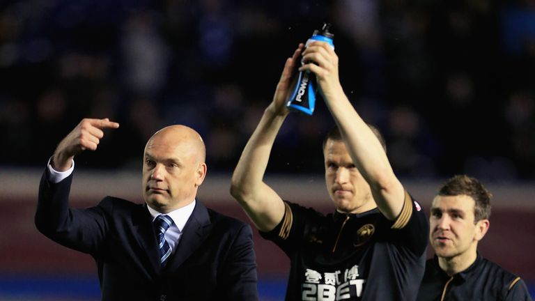 Uwe Rosler: Praised his Wigan players for reaching the play-offs