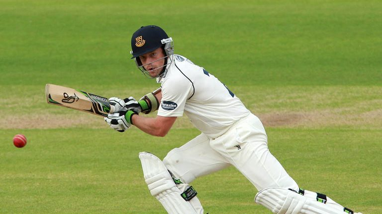 Ed Joyce: fell to the last ball of the day for 130