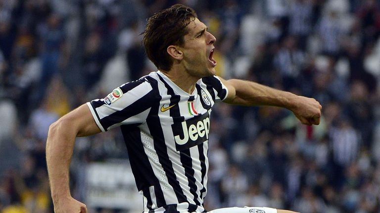 Fernando Llorente celebrates on Monday