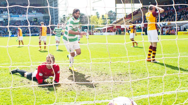 Georgios Samaras: Scores Celtic's second goal at Fir Park