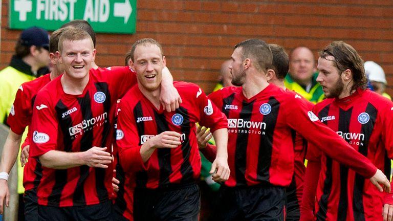 Steven Anderson: Celebrates his goal for St Johnstone