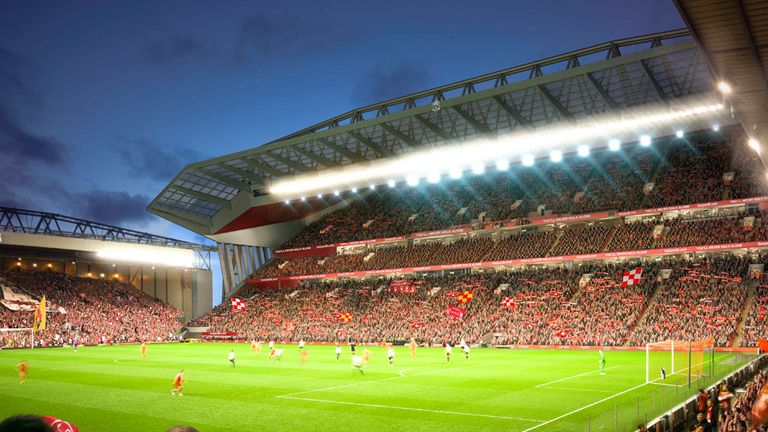 An artist's impression of the new-look Anfield