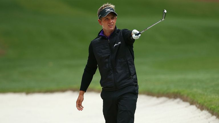 Luke Donald: Has reached three-under for the tournament