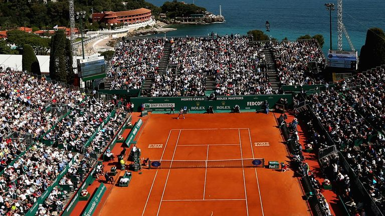 The main court at Monte Carlo - one of the best settings in world tennis
