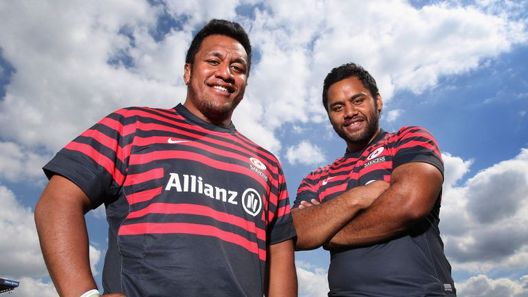 Mako Vunipola (left) and brother Billy: Ready for Saturday's showdown