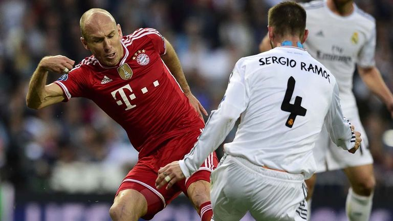 real madrid vs bayern munich stats