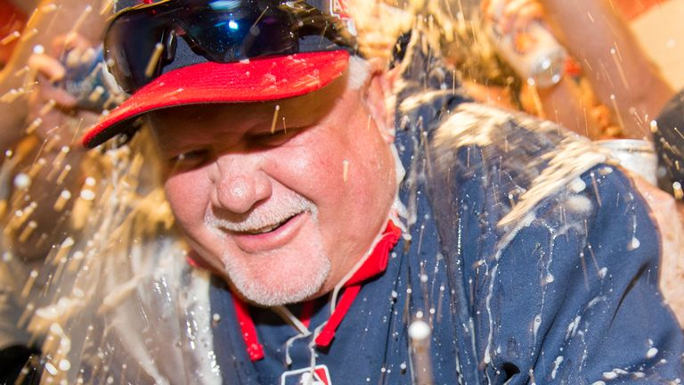 Ron Gardenhire celebrates his landmark win