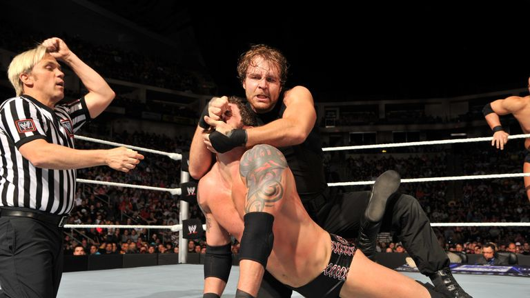 Dean Ambrose takes charge of Bad News Barrett