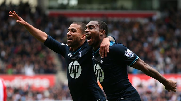 Danny Rose (right) celebrates with Aaron Lennon