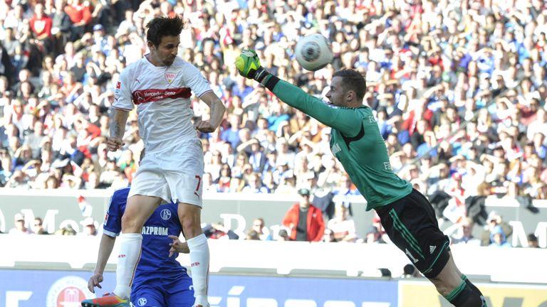 Stuttgart's forward Martin Harnik hits the target