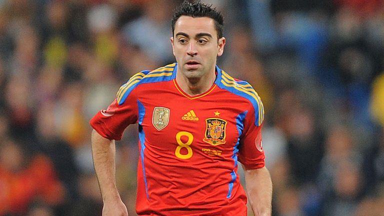 Xavi: Believes Spain's experience in Brazil could give them an advantage