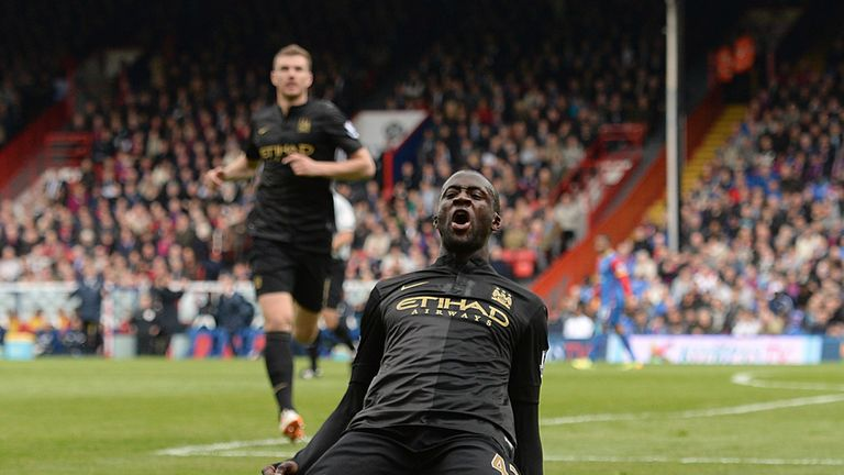 Yaya Toure: His side currently top the Premier League table on goal difference