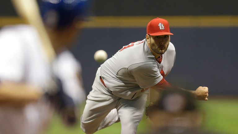 Pitcher Lance Lynn: Starred for the St Louis Cardinals at Miller Park