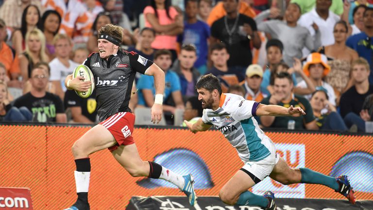 Colin Slade (L): Scored 25 points during the Crusaders' victory over the Cheetahs