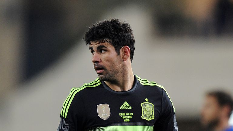 Diego Costa: Selected despite carrying a hamstring injury