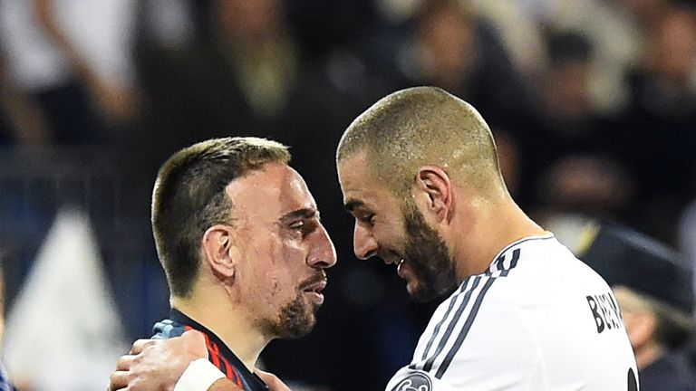 French stars Franck Ribery and Karim Benzema play overseas