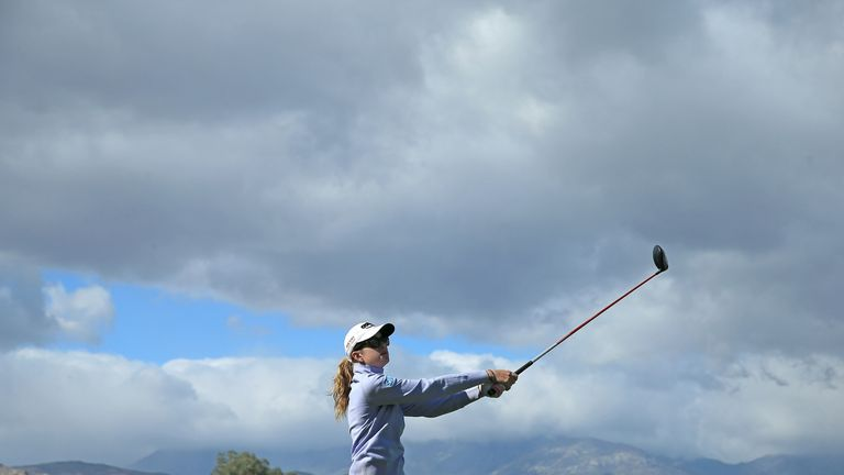 Paula Creamer in action during Tuesday's practice round
