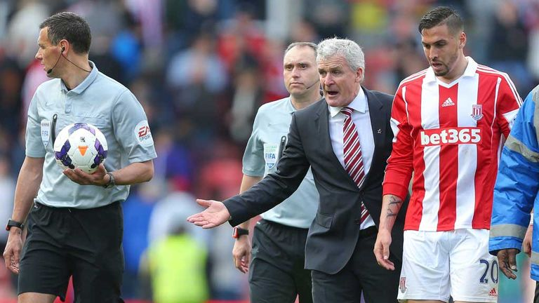 Mark Hughes: Not happy after defeat