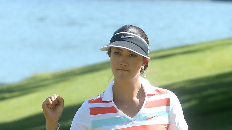 Michelle Wie during the third round of the Kraft Nabisco Championship