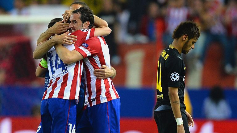 Atletico Madrid eliminated Barcelona from the Champions League at the quarter-final stage