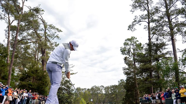 Rory McIlroy during a practice round prior to the start of the 2014 Masters at Augusta