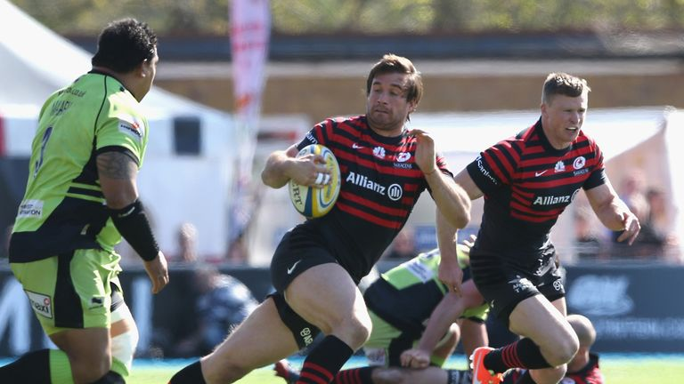 Saracens break during win over Saints