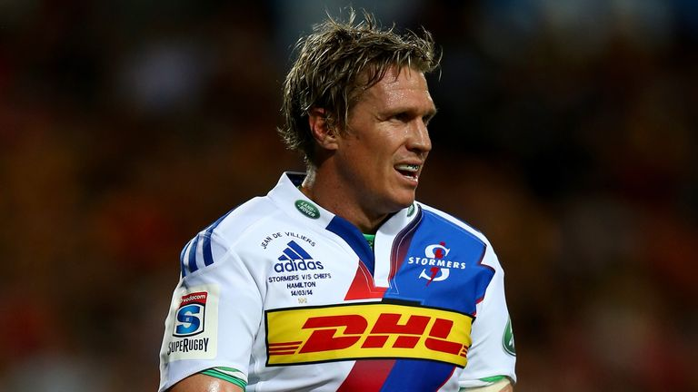Jean de Villiers: Pulled out of the Stormers side this weekend with a knee complaint
