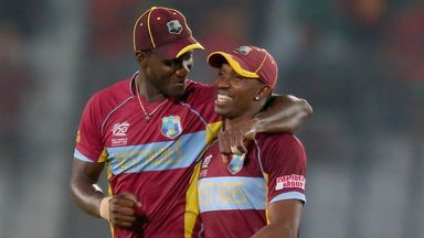 Darren Sammy and Dwayne Bravo: In good spirits in Bangladesh