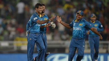 Sri Lanka celebrate Thursday's World Twenty20 victory over West Indies