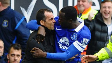 Romelu Lukaku: Striker is happy at Everton, according to Roberto Martinez